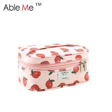 girls makeup bag. aliexpress.com : buy lovely cartoon printing makeup bag for teenage girls toilet wash storage case shape candy color cute canvas cosmetic from reliable