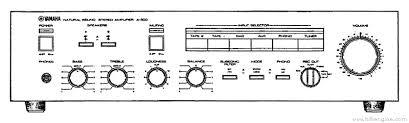 yamaha a 500 manual stereo integrated amplifier hifi engine yamaha a 500 stereo integrated amplifier