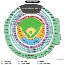 Rogers Centre Seating Map Rogers Seating Map Canada