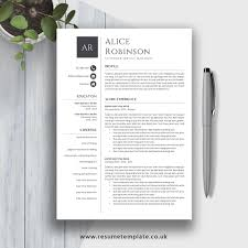 Simple Resume Template Cv Template 2019 Cv Layout Cv Design Fully Editable Ms Word Resume Cover Letter And References For Instant Download Alice