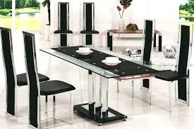 dining room set under 600 round table for 6 delran piece furniture black chairs glass white
