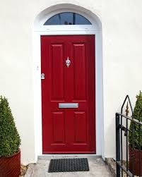 Front Doors: Stupendous Front Door Red For Contemporary Home. Gray ...