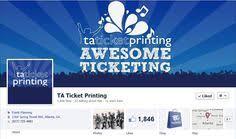 42 Best Ta Ticket Printing Images Ticket Printing Custom Tickets