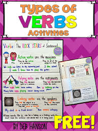 Types Of Verbs Anchor Chart With A Freebie Crafting