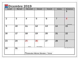 Calendario Festività Ticino 2019 Ikbenalles