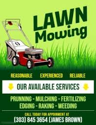 Lawn Care Brochure Create Lawn Care Business Flyers Its Easy Postermywall