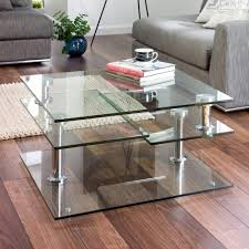 Jacque Extending Glass Coffee Table Clear. Loading Zoom