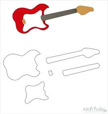 acoustic guitar cake template printable electric guitar cake template printable for getpicks co