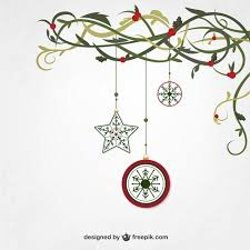 hanging christmas ornaments vector. Hanging Christmas Ornaments Free Vector For