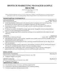 Biotech Resume Examples Resume Samples For Biotechnology Jobs