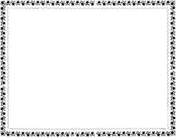 free black and white flower border clip art