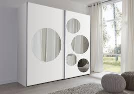 Schwebetürenschrank Weiß Spiegel Quadratisch