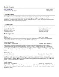 Collection Of Solutions District Manager Resume For Cover Letter In