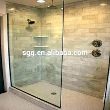 shower glass wall panels panel half master bathroom tile with mount bracket