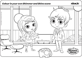 All images used in this app are believed to be in public domain. Leah And Zac In Their Original Form Shimmer And Shine Coloring Pages Coloring Pages Coloring Pages Inspirational Shimmer N Shine