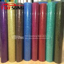 Premium quality glitter transfer PU FILM, glitter transfer vinyl for heat ...