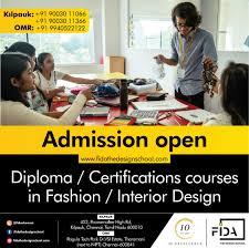 College For Fashion Designing In Chennai Fida The Design School