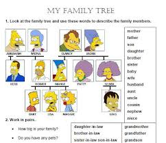 famiy tree my family tree worksheet