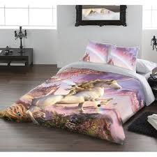 awesome unicorn double duvet cover set