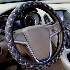 auto car pu leather steering wheel cover universal protective cover fit for most car s steering wheel black red