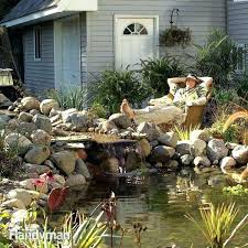 diy outdoor water fountain kits backyard feature build a pond and waterfall family handyman how to