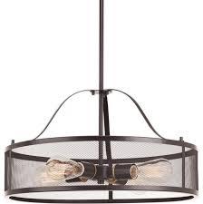 swing 4 light pendant in antique bronze industrial pendant lighting by lighting new york