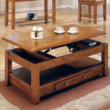 ... Coffee Table, Charming Brown Rectangle Nautical Wood Coffee Table On  Casters With Storage Ideas For ...