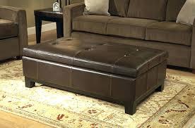 storage ottoman coffee table. Rectangular Storage Ottoman Impressive Leather Coffee Table Rectangle . I