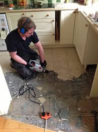 how to remove ceramic tile adhesive