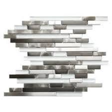 kitchen backsplash stainless steel tiles: stainless steel glass tile random mix
