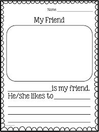 best friend activities ideas teaching informative writing for kindergarten my friend common core