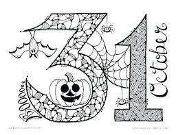 Monster Spooky Halloween Coloring Pages For Kids Adults Free Disney