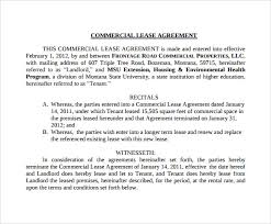 11 Sample Commercial Lease Agreements Word Pdf Pages