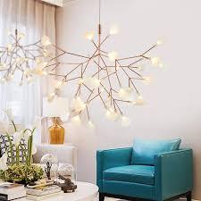 firefly led pendant lights modern creative snowflake tree leaf pendant lamp fireworm lamps brown white black ac110 240v lighting modern led modern light