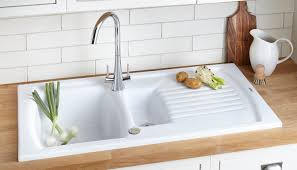 How To Install Kitchen Sink in white with single hole on wood countertop