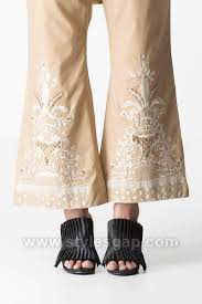 Bell Bottom Pajama Design Latest Trouser Pants Designs Styles 2018 2019 Collection