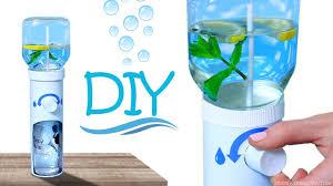 Diy Water Bottle How To Make Working Water Dispenser Diy Desk Water Cooler Youtube