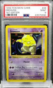 Drowzee # 49/102 Unlimited Base Set Pokemon TCG Game Trading Cards Psychic
