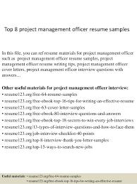 Top   project management officer resume samples SlideShare