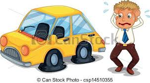 flat tires clipart. Unique Flat A Worried Man Beside A Car With Flat Tires  Csp14510355 To Flat Tires Clipart O