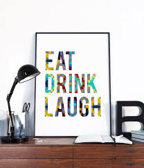 kitchen wall art eat drink laugh typography geometric scandinavian kitchen prints on food and drink wall art with kitchen wall art eat drink laugh typography yaansoon
