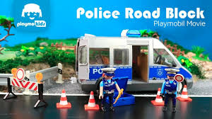 Playmobil City Action Police Van With Lights And Sound 6043 Playmobil City Action Police Road Block Police Van And Much More