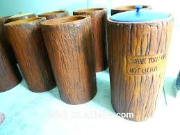 decorative outdoor garbage cans decorated trash can big ash bin patio furniture ca