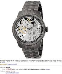 deal of the day 995 invicta men s 0570 vintage collection amazon is selling the invicta men s 0570 vintage collection mechanical skeleton watch for just 159 99 shipped originally priced at 995