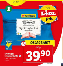 The products are marketed under well known brands, which stand for quality and good animal welfare. Kronfagel Kycklinglarfile For 39 90 Fran Lidl Allamatpriser Se