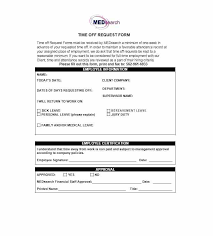 Personal Time Off Request Form Printable Time Off Request Form Template Calendar Employee Vacation