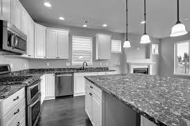 Kitchen  White Grey Granite Kitchen Countertop With White Kitchen - White granite kitchen