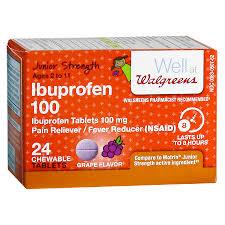 Jr Strength Acetaminophen Dosage Chart Walgreens Junior Strength Ibuprofen Chewables Grape