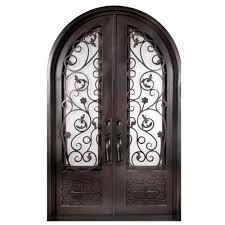 Iron Doors Unlimited 62 in. x 97.5 in. Fero Fiore Classic 3/4 Lite ...
