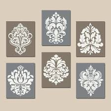 damask wall art damask wall art canvas or prints gray brown bedroom by damask framed wall damask wall art  on damask framed wall art with damask wall art damask wall art canvas or prints french country